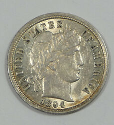 1894 Barber Dime Almost Uncirculated Silver 10-cents