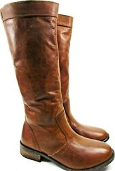 Diesel Women Calf High Boots Leather Size 6.5/euro 36.5 Brown Style F8-03-me
