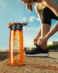 Water Filter Bottle Integrated Filter Straw Camping Hiking Sport Backpacking Kit $9.99