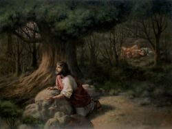 James Seward Thy Will Be Done - Jesus At Gethsemane Giclee On Canvas 48x36