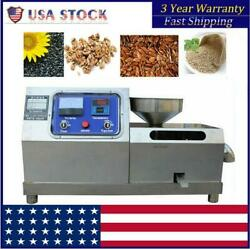 Automatic Oil Press Machine Stainless Steel Commercial Press Oil Extractor 110v