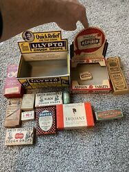 General Store Apothecary Lot. Early Medicine Displays And Quack Medicines