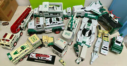 Huge Lot Hess Toy Truck Race Car Firetruck Helicopter Fighter Place Tractor Mini