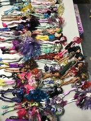 Lot Of 48 Monster High Dolls Shoes Accessories Furniture Monster High Car