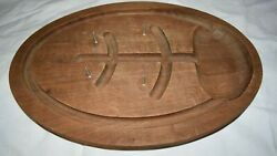 Mid Century Modern Gladmark Solid Wood Oval Meat Poultry Fish Serving Tray Mcm