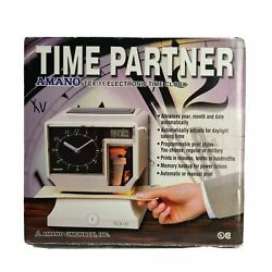 Amano Electronic Time Clock/recorder Tcx-11 Time Partner
