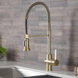 Kraus Kpf-1690bg Britt Pre-rinse/commercial Kitchen Faucet With Dual Function Sp