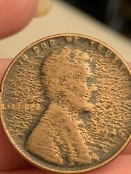 1945 Wheat Back Penny Cloth  Weaving Struck Through Grease Errors