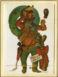 Vintage Christmas Humor Leather Golf Clubs No Clue What To Do Frank Holt Card