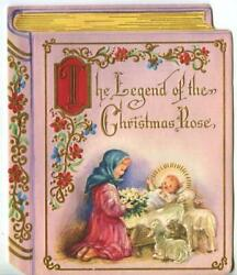 Vintage Christmas Christ Child Sheep Legend Of The Christmas Rose Embossed Card