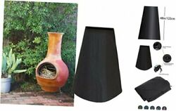 Outdoor Patio Chiminea Cover Waterproof Protective Chimney Fire Pit Heater