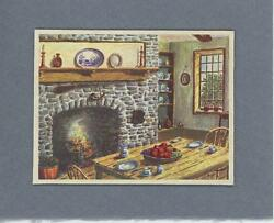 Vintage Gray Stone Hearth Delftware Cupboard Kitchen Fruit Collate Picture Print