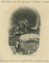 Antique Soldier Allegorical Quarter Moon Night Memories Ages Past Small Print