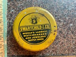 Vintage Tin Swartchild And Co Worlds Largest Watchmakers And Jewelry Supply House