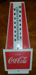 Vintage 1970s Coca Cola Pyramid Thermometer Sign
