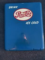 Vintage Drink Pepsi Ice Cold Sign Panel From Soda Cooler B