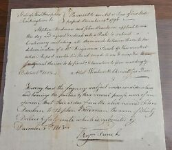 African American Revolutionary War Patriot Wentworth Cheswill Signed 1813