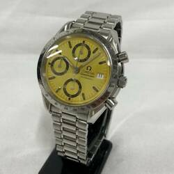 Omega Speedmaster Date 3511.12 Automatic Yellow Dial Stainless Mens