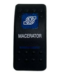 Carling Blue Lighted Macerator Rocker Switch Cover