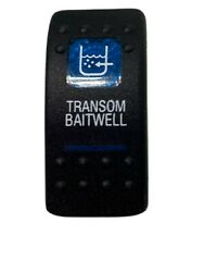 Carling Blue Lighted Transom Baitwell Rocker Switch Cover