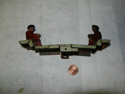 Vintage 1940andrsquos Tin Lithographed Rare Childandrsquos See-saw Part Of Toy Do You Need