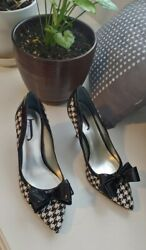 J.Renee' WOMENs SHOES SIZE 8.5 w bow checkered heels amaze jj office ladies $29.99