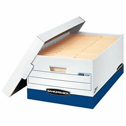 Bankers Box Presto Heavy-duty Storage Boxes Instant Assembly Lift-off Lid Leg...