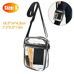 Clear Crossbody Purse Bag Stadium Security Approved Should Handbag Tote PVC Pack $11.98