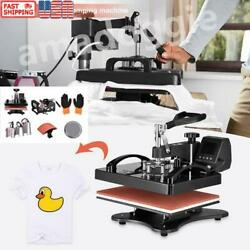 5 In 1 Heat Press Combo Machine 15x15 Transfer Sublimation Kit For T-shirts