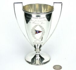 1896 Sterling Silver Trophy Cup Urn Rhode Island Yacht Club Minerva 40and039 Sloop