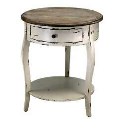 French Country Abelard Side Accent Table Shelf Cottage Chic Cyan Design 02469