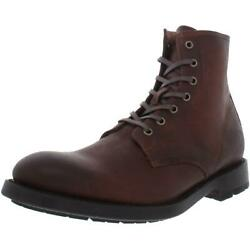 Frye Mens Bowery Brown Leather Casual Ankle Boots Shoes 9.5 Medium D Bhfo 3983