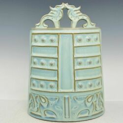 12.2 Chinese Old Antique Song Dynasty Jun Kiln Luqinzhai Mark Porcelain Chimes