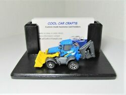Tractor Business Card Holder With Bucket Loader / Backhoe Heavy Equipment Sales