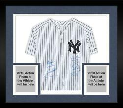 Frmd 2009 New York Yankees Multi-signed White Jersey And Matsui 09 Ws Mvp Insc