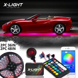 Bluetooth Remote Car Truck Underglow Under Body Neon Accent Glow Led Light Kits