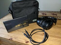 Aviation Headset With Bag And Logbook