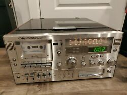 Yorx Am-fm Stereo Turntable Cassette 8-track M2681 Untested Turns On