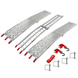 7.5ft Truck Loading Heavy Duty Aluminum Ramps For Motorcycle Plated Lawnmower