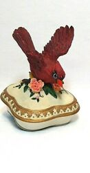You Light Up My Life Heritage House Cardinal Music/trinket Box Sing A Song 1970