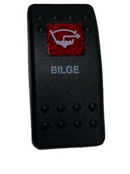Carling Red Lighted Bilge Rocker Switch Cover