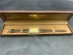 Rare Longines Womens Watch - Gold With Leather Band