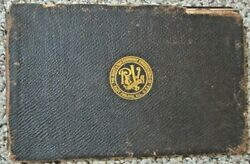 Antique Root And Vandervoort Engineering Hit Miss Gas Engine Factory Plate Catalog