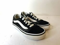 VANS Kids Sneakers SK8 Low Tops Black White Kids Youth Shoes Size 11.5