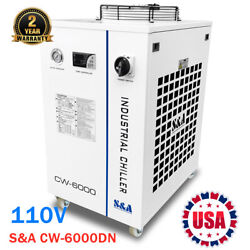 Sanda Cw-6000dn Industrial Water Chiller For 100w Solid-state Laser/22kw Cnc 110v