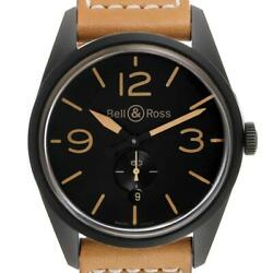 Bell And Ross Vintage Black Dial Ceramic Mens Watch Br123 Box Card