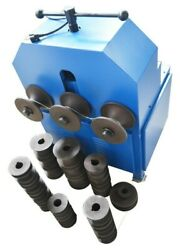 110v Electric Tube Pipe Bender Roller Round /square Dies Bending Machine 1400rpm