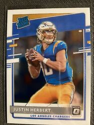 Justin Herbert 2020 Donruss Optic Base Rookie Card 153 Los Angeles Chargers