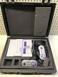 Super Nintendo Console W/ Controllers Adapters Case Untested Old School Gaming
