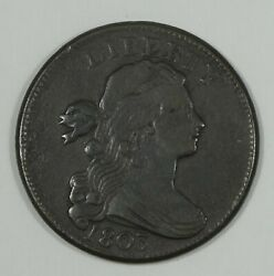 1803 Small Date/large Fraction Draped Bust Large Cent Extra Fine 1c